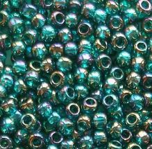 Toho 8/0 Seed Beads Transparent Rainbow Teal 167BD - 10 grams